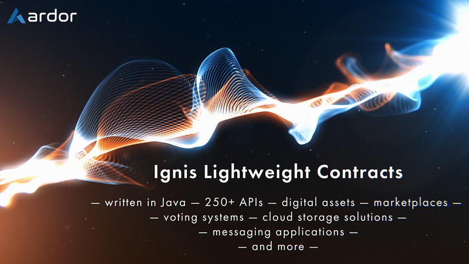 Ignis Lightweight Smart Contracts (PRNewsfoto/Jelurida)