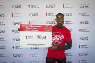 American Ninja Warrior TV series finalist and National Fight For Air Climb Ambassador Najee Richardson announces today his appearance in 5 Fight For Air Climbs nationwide with the American Lung Association.