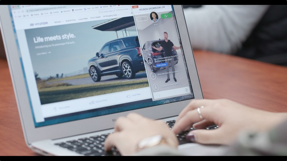 "In a first-of-its-kind application from an automaker in the U.S., Hyundai has introduced ""Hyundai Showroom Live,"" a new live video chat platform on HyundaiUSA.com that provides an engaging and informative experience for customers."