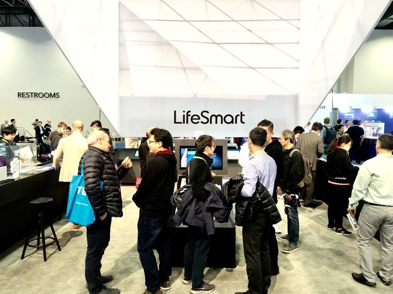 LifeSmart's Cololight showcase in Las Vegas at 2019 CES
