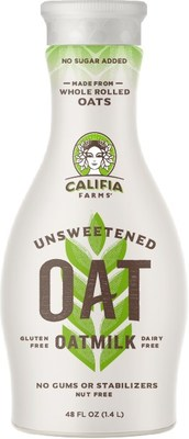 Califia Farms announces new 48 oz. Unsweetened Oatmilk made with North American whole grain, gluten free oats; launching April 2019.