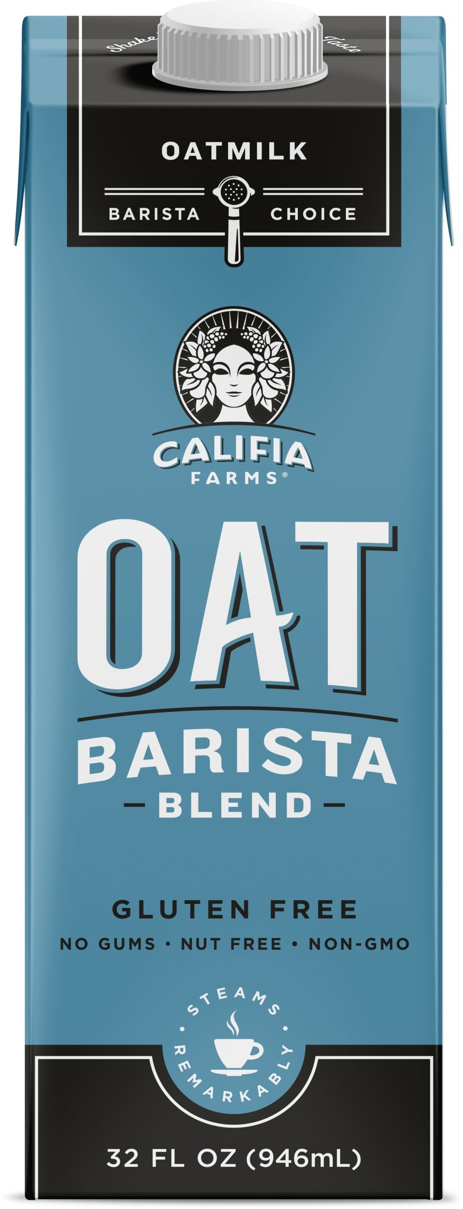 Califia Farms announces new Oat Barista Blend made with North American whole grain, gluten free oats; launching February 2019.