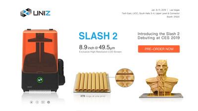 UNIZ Unveils Their Newest High Precision 3D Printers, the SLASH 2 Series, at CES 2019