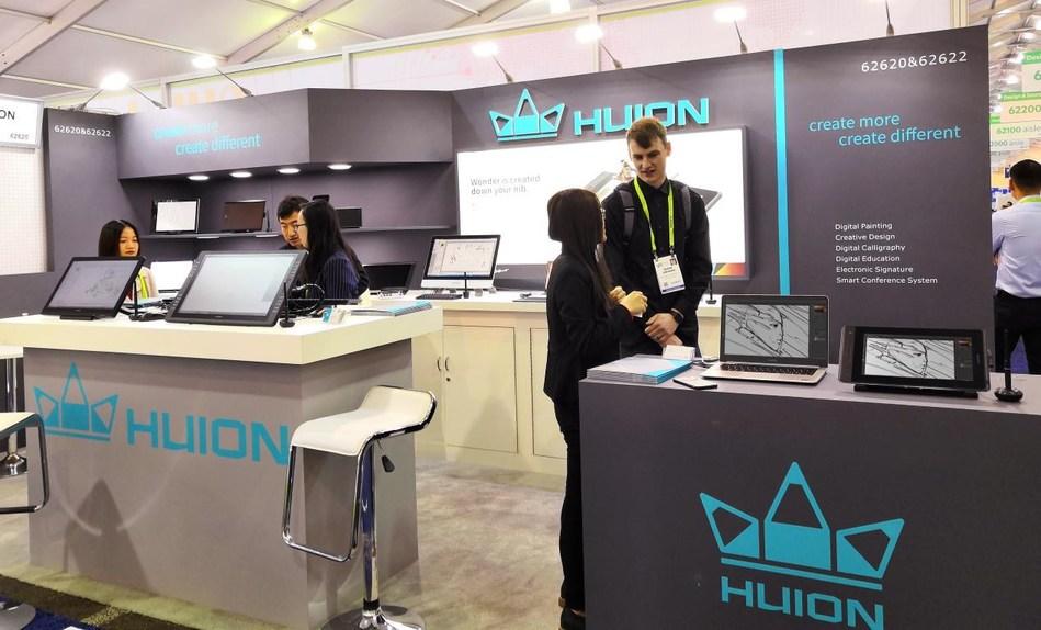 Huion au CES 2019 (salon d'électronique grand public) à Las Vegas (PRNewsfoto/Huion)