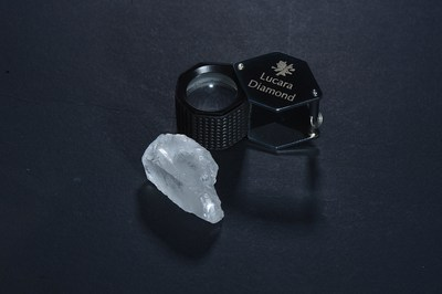 The 127 carat diamond recovered from the Karowe mine (CNW Group/Lucara Diamond Corp.)