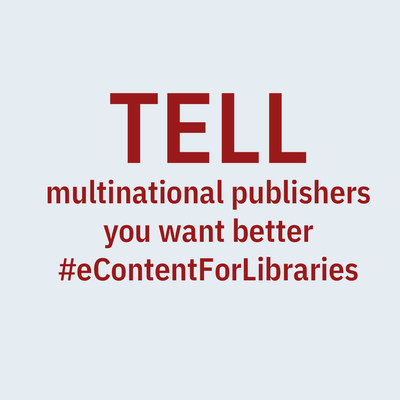 Help us spread for the word for better eContent (CNW Group/The Canadian Urban Libraries Council)