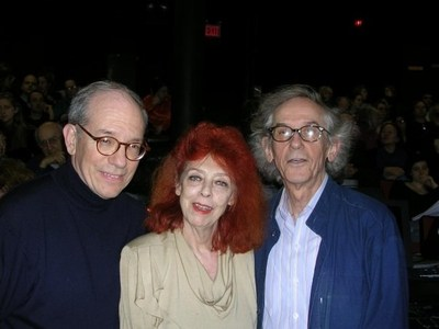 """Photo: ATOA - Sheer with Jeanne-Claude and Christo on eve of opening of """"The Gates"""""""