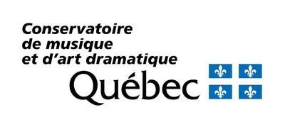 Logo : Conservatoire de musique et d'art dramatique du Québec (Groupe CNW/Conservatoire de musique et d'art dramatique du Québec)
