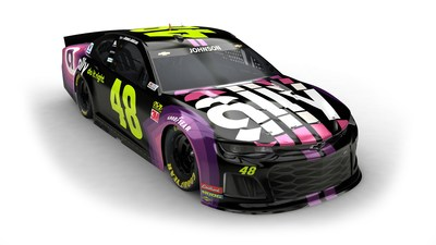 Jimmie Johnson's No. 48 Chevrolet Camaro with Ally-sponsored paint scheme
