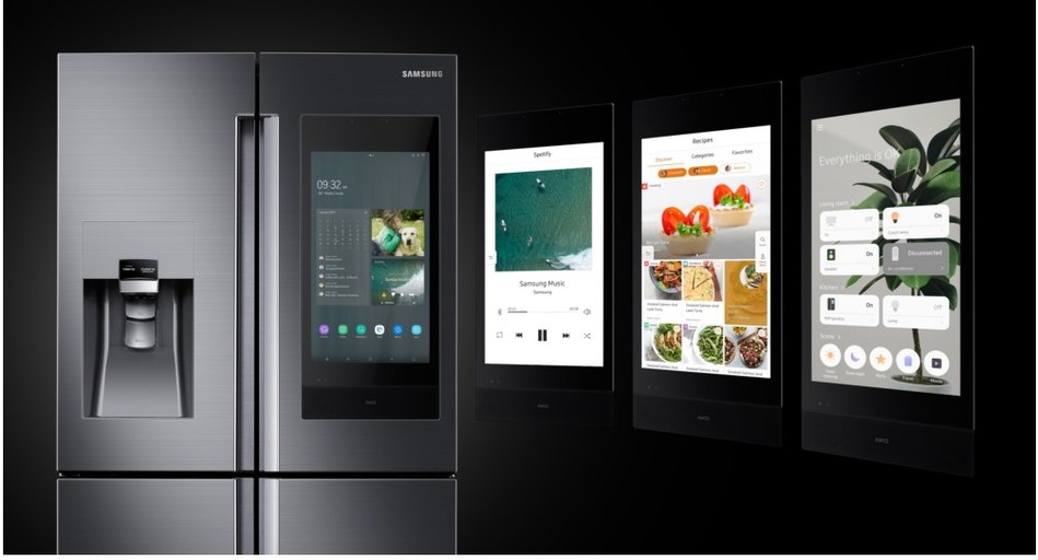 Samsung Debuts a New Standard in Connectivity with Next Generation of Family Hub Refrigerator at CES 2019 (CNW Group/Samsung Electronics Canada)