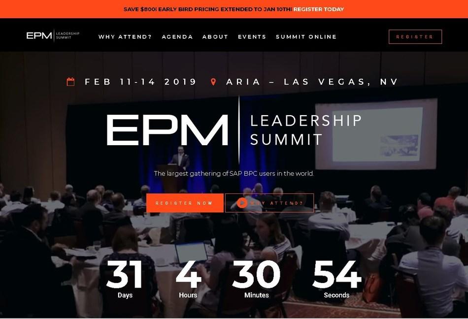 2019 EPM Leadership Summit at Aria Las Vegas!