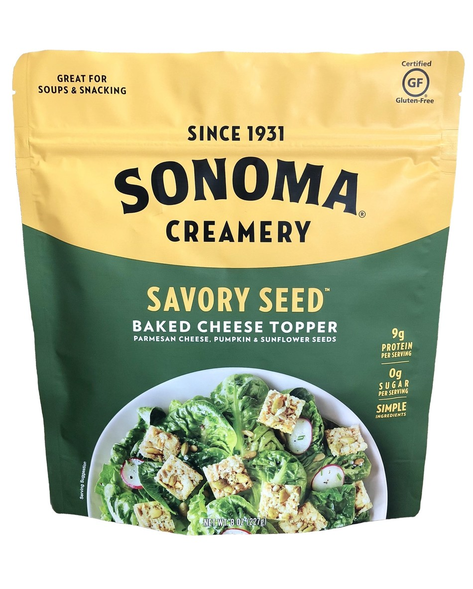 Sonoma® Keto-Friendly Savory Seed Baked Cheese Toppers Debut at Winter Fancy Food Show 2019