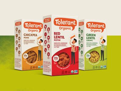 Tolerant Foods Announces New Single-Ingredient Organic Chickpea Pasta & New Branding