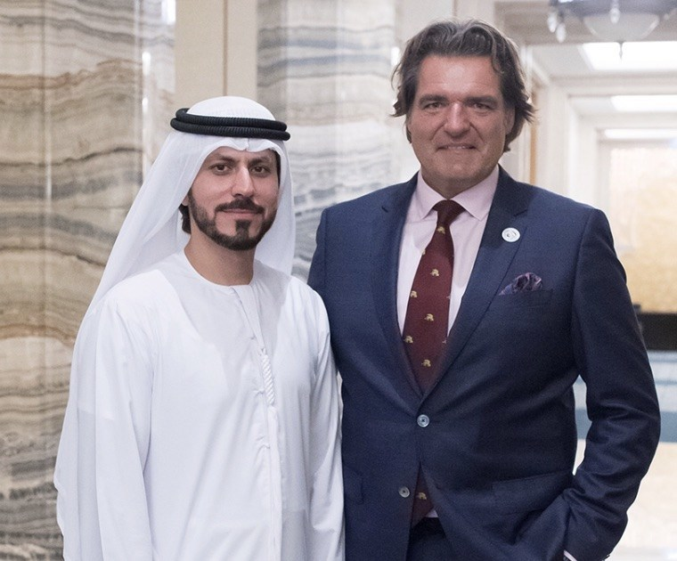 Pictured above: (left) Mohamed Al Ali, CEO & Advisor, Sheikh Ahmed Al Maktoum International Investments Enterprise, UAE with Anthony Ritossa, Ritossa Family Office (right). (PRNewsfoto/Ritossa Family Office)