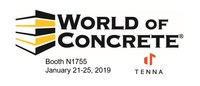Tenna booth information at World of Concrete 2019