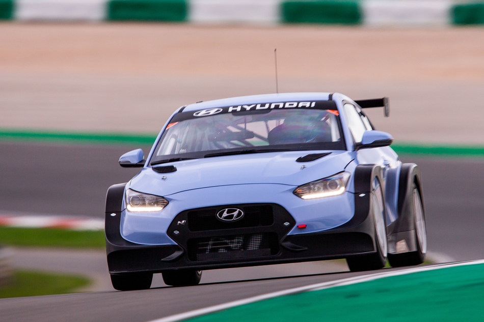 Hyundai Veloster N Race Car Makes World Debut at North America International Auto Show