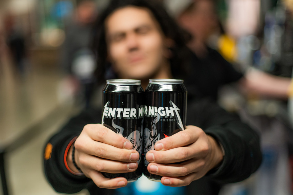 Metallica & Arrogant Consortia announce Enter Night Pilsner, launching in the US now and internationally this spring.
