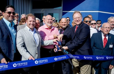 PenFed Credit Union leadership and local officials cut the ribbon for the new PenFed Hatillo Financial Center during a ceremony on Saturday, January 12.