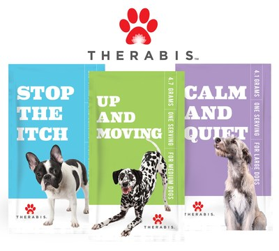 Therabis offers hemp-infused pet supplements designed to address anxiety, joint mobility, skin irritations and allergies in dogs. (CNW Group/Dixie Brands, Inc.)