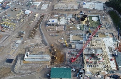 Figure 2. Aerial view of the process plant (CNW Group/Lundin Gold Inc.)