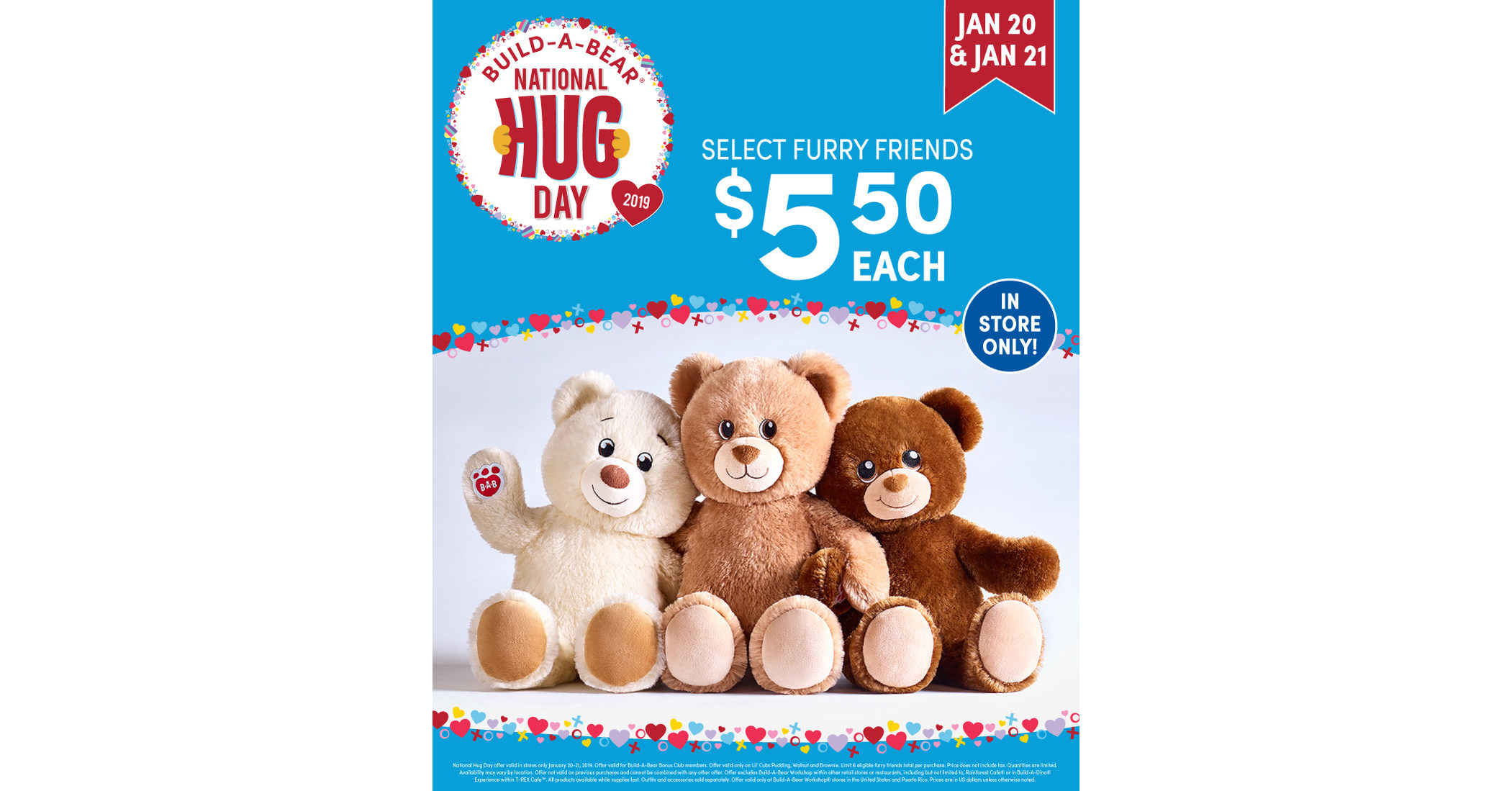 Build A Bear Embraces The Power Of Hugs For National Hug Day With Special Deals On Select Furry Friends
