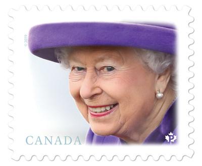 Timbre de la reine (Groupe CNW/Postes Canada)
