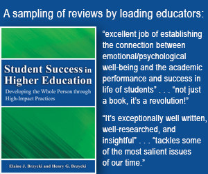 Best Selling Book on Student Well-being in Higher Education : https://www.amazon.com/Student-Success-Higher-Education-Developing/dp/0988716151/ref=tmm_pap_swatch_0?_encoding=UTF8&qid=&sr=