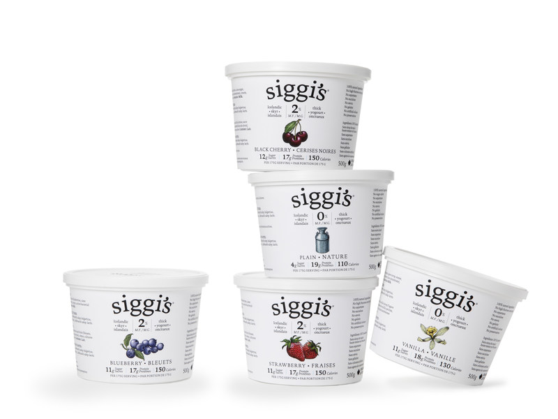 In January, siggi's launched its Icelandic skyr yogurt in Canada with simple ingredients and not a lot of sugar. (CNW Group/Parmalat Canada)