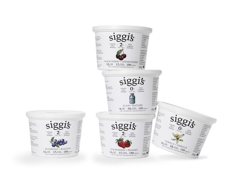 En janvier, siggi's lançait au Canada son yogourt skyr islandais, qui contient des ingrédients simples et peu de sucre. (Groupe CNW/Parmalat Canada)