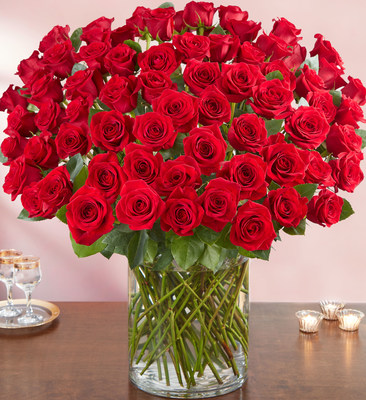 100 Premium Long-Stem Red Roses
