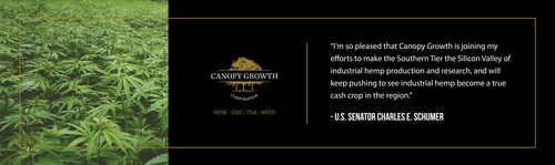 Canopy Growth receives New York State hemp licence and will establish U.S.-based commercial operations (CNW Group/Canopy Growth Corporation)