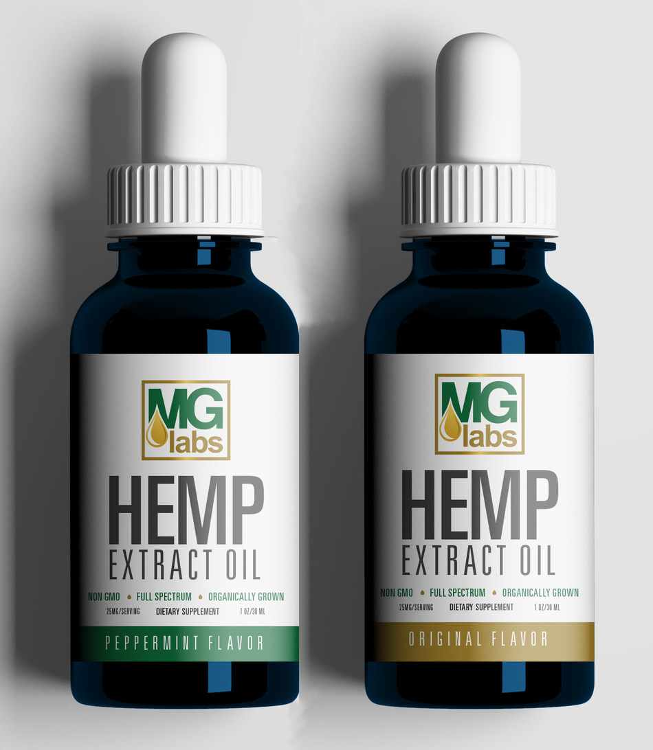 MG Labs Hemp Extract Oil, a full spectrum 750mg CBD oil, Peppermint Flavor & Original Flavor manufactured by Mineralife Nutraceuticals in Colorado Springs, Colorado.