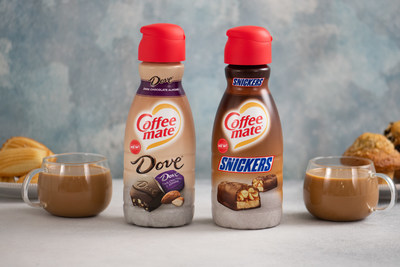 Coffee mate® SNICKERS® and DOVE® Dark Chocolate Almond Creamers