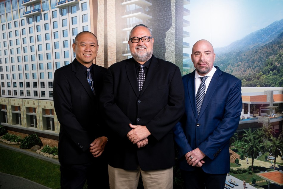 Left to Right: Chris Keh, Director of Housekeeping and Environmental Services, Mitch Bradley, Director of Front Services and Chuck Oliverio, Director of Recreation Services at Sycuan.
