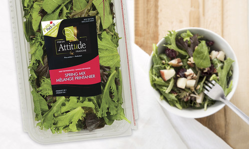 Fresh Attitude Prewashed Lettuces and Salad Kits Now Available in Western Canada (CNW Group/Vegpro International)