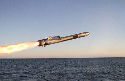 In 2018, the U.S. Navy selected the Naval Strike Missile for its over-the-horizon weapon system. Raytheon has teamed with Norway's Kongsberg to bring the fifth-generation missile stateside. (Photo: Kongsberg)