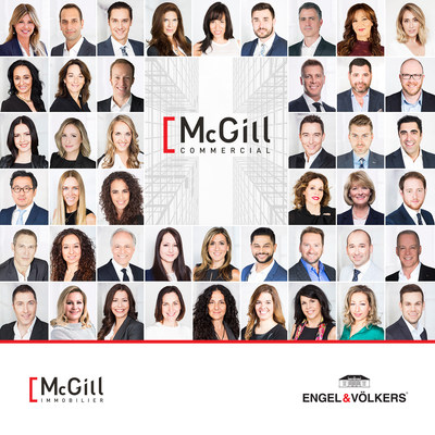 Équipe de courtiers immobiliers McGill commercial (Groupe CNW/McGill Immobilier)