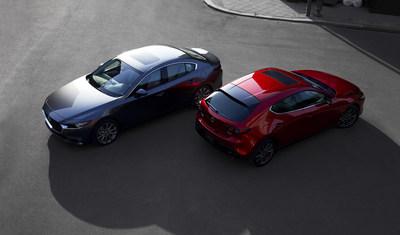 Mazda3 et Mazda3 Sport 2019 (Groupe CNW/Mazda Canada Inc.)