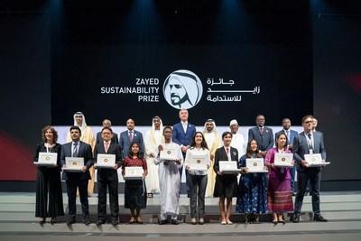 穆罕默德-本-扎耶德向2019扎耶德可持续发展奖获奖者颁奖