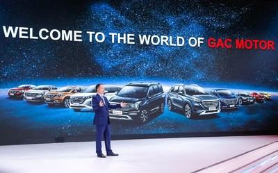Yu Jun, presidente da GAC Motor, discursou (PRNewsfoto/GAC Motor)