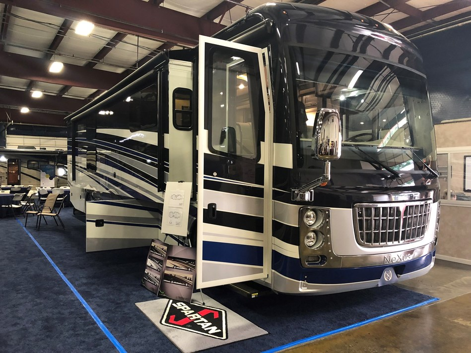 Introducing the 2019 NeXus RV's Bentley Diamond 40' Class A luxury diesel coach featuring Spartan Motors' groundbreaking K1 360 Chassis.