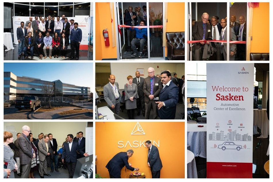 Sasken's Automotive CoE in Detroit inaugurated by Southfield City Mayor, Dr. Kenson J. Siver (PRNewsfoto/Sasken Technologies Ltd.)