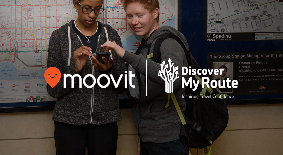 moovit and Discover My Route (CNW Group/Community Living Toronto)
