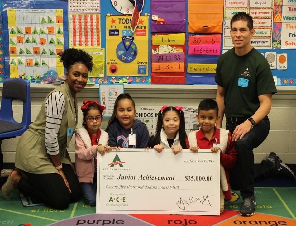 ACE Cash Express presents annual donation to Junior Achievement at JA in a Day