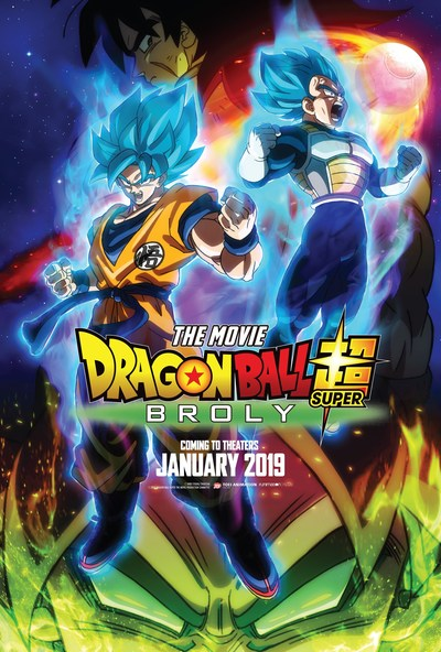 Dragon Ball Super: Broly Key Art. Courtesy of Funimation Films.