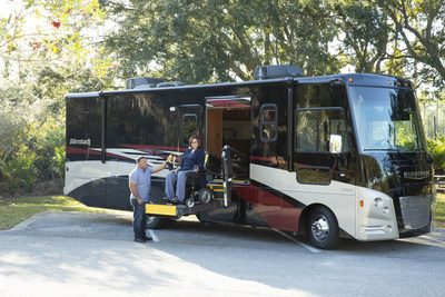 Bringing greater freedom and comfort to people traveling in wheelchairs, Winnebago launches three accessibility-enhanced motorhomes. Building on 40 years supporting this community, the new Accessibility-Enhanced (AE) line, includes the Intent 30R AE, Adventurer 30T AE, and Forza 34T AE.
