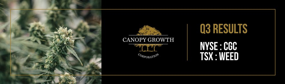 Canopy Growth to Announce Third Quarter Fiscal 2019 Financial Results (CNW Group/Canopy Growth Corporation)