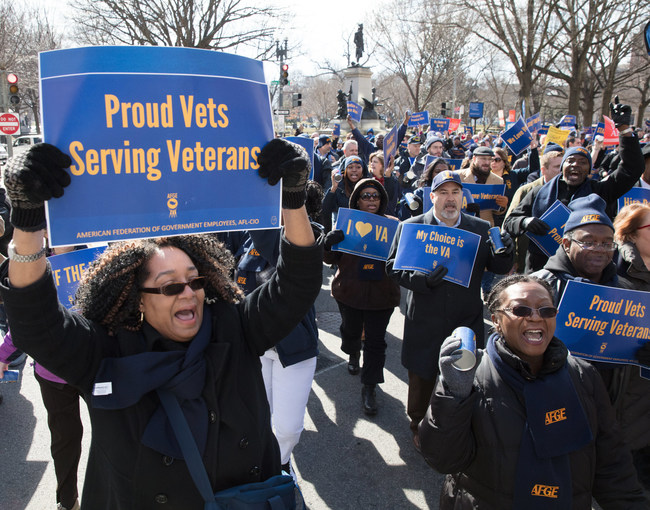 About 300,000 veterans and their families are without pay as the federal government shutdown stretches into Week 4. Veterans make up one-third of the federal workforce, and many are experiencing tremendous financial hardship, union leaders say.