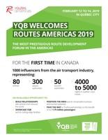 YQB Welcomes Routes Americas 2019 (CNW Group/Aéroport de Québec)