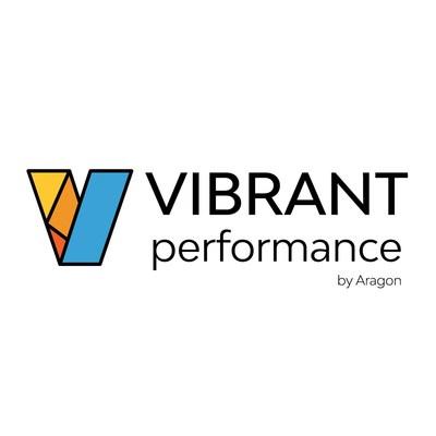 Vibrant by Aragon Logo, grey gradient background